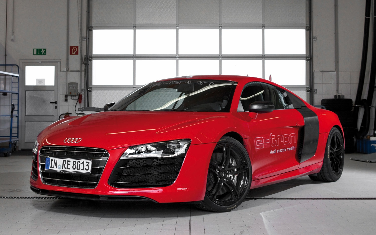 Audi R8 E Tron Front Three Quarter Static1